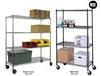 JAKEN MOBILE WIRE SHELVING UNITS