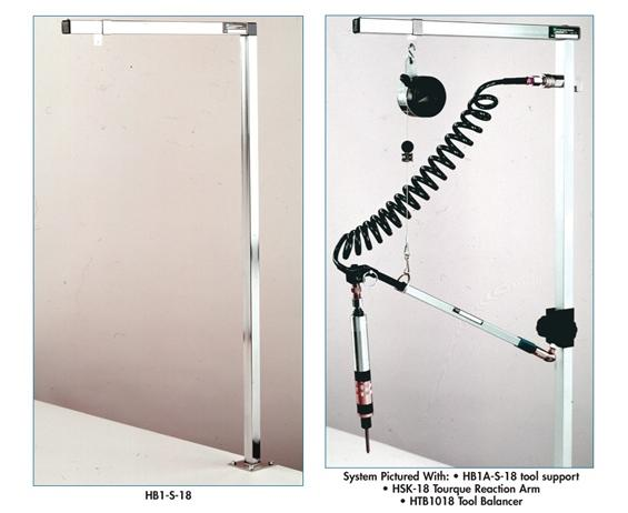 TELESCOPING 2-STAGE TORQUE REACTION ARM: OPTIONAL BENCH CLAMP
