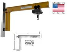 WALL BRACKET - FULL CANTILEVER JIB CRANE